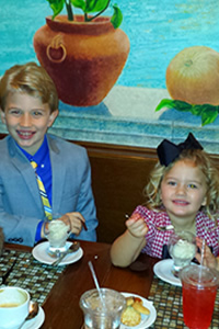 Heinemann Children Dining at Via Quadronno