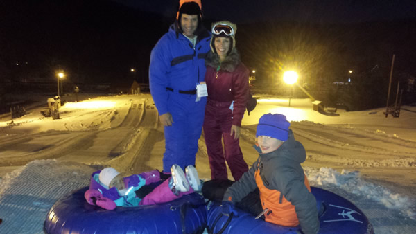 Heinemann Family Winter Tubing