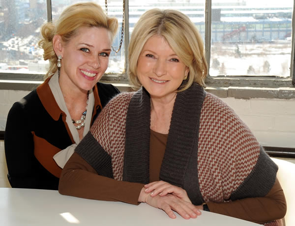 Martha Stewart and Michelle-Marie Heinemann