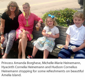 Princess Amanda Borghese and Michelle-Marie Heinemann, Hyacinth Cornelia Heinemann and Hudson Cornelius Heinemann