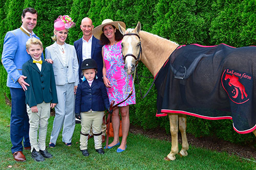 Jon Heinemann, Hudson Cornelius Heinemann, Michelle-Marie Heinemann, Paul Mayne, Hyacinth Cornelia Heinemann, Julie Stevenson. The Heinemann Family proudly supports The Hampton Classic