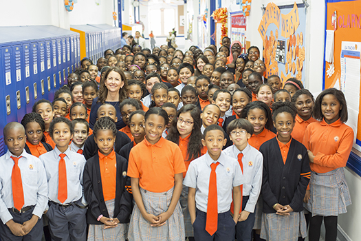 Students from Success Academies—a high-performing charter chain that now has close to 10,000 kids enrolled and may reach 30,000 over the next several years, thanks to donor support. (Blair Getz Mezibov)