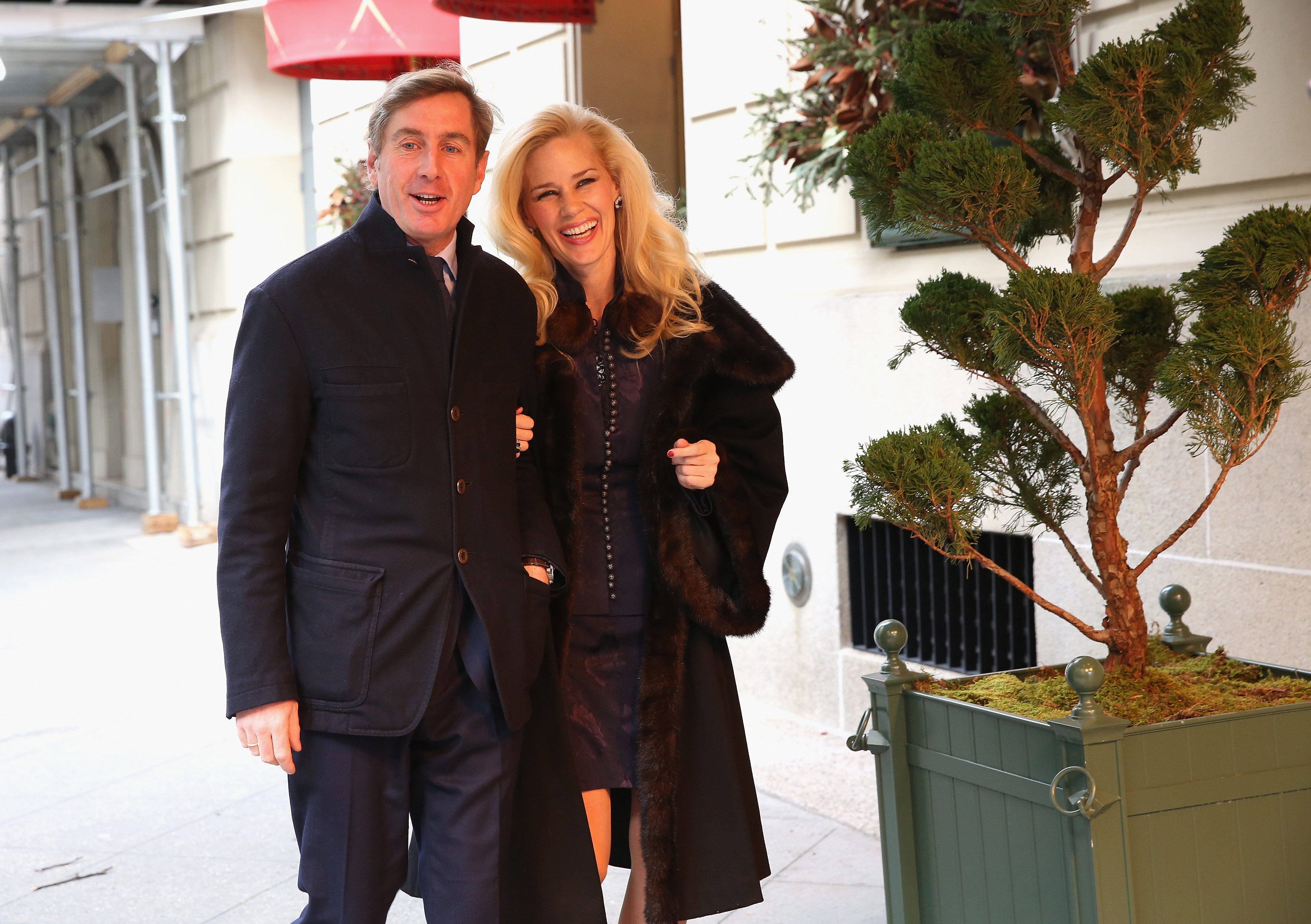 NEW YORK, NY - JANUARY 08: New York Socialite Michelle-Marie Heinemann (L) Hosts Luncheon For Prince Charles Henri Lobkowicz (R) At Plaza Athenee on January 8, 2016 in New York City. (Photo by Robin Marchant/Getty Images for Old Fashioned Mom Magazine)