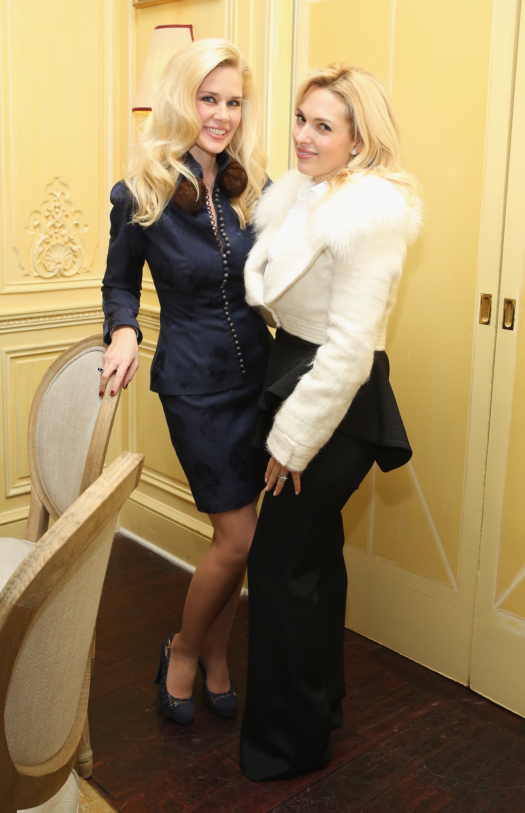 NEW YORK, NY - JANUARY 08: New York Socialite Michelle-Marie Heinemann and Anne Baker attend a Luncheon for Prince Charles Henri Lobkowicz At Plaza Athenee on January 8, 2016 in New York City. (Photo by Robin Marchant/Getty Images for Old Fashioned Mom Magazine)