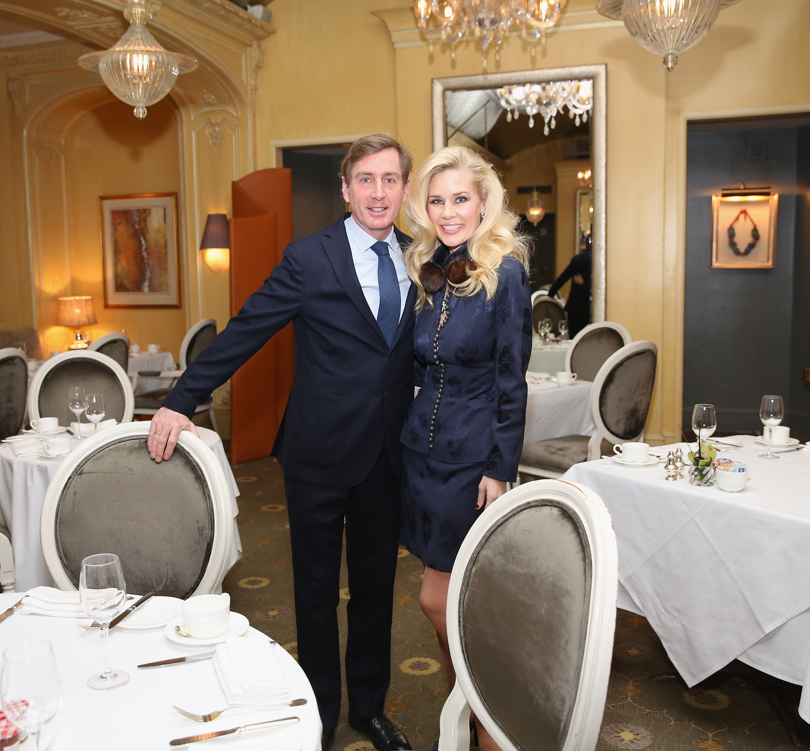 NEW YORK, NY - JANUARY 08: New York Socialite Michelle-Marie Heinemann (R) Hosts Luncheon For Prince Charles Henri Lobkowicz (L) At Plaza Athenee on January 8, 2016 in New York City. (Photo by Robin Marchant/Getty Images for Old Fashioned Mom Magazine)