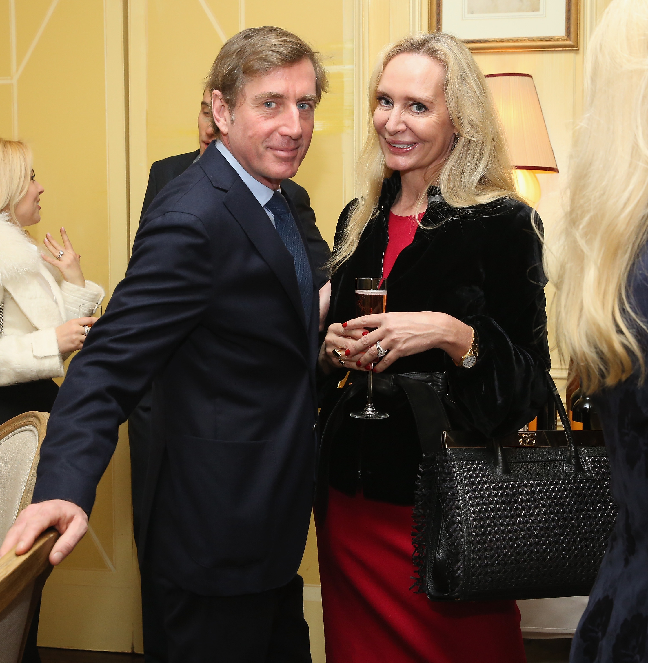NEW YORK, NY - JANUARY 08: Prince Charles Henri Lobkowicz (L) and Marie-Claire Gladstone attend a Luncheon For Prince Charles Henri Lobkowicz At Plaza Athenee on January 8, 2016 in New York City. (Photo by Robin Marchant/Getty Images for Old Fashioned Mom Magazine)