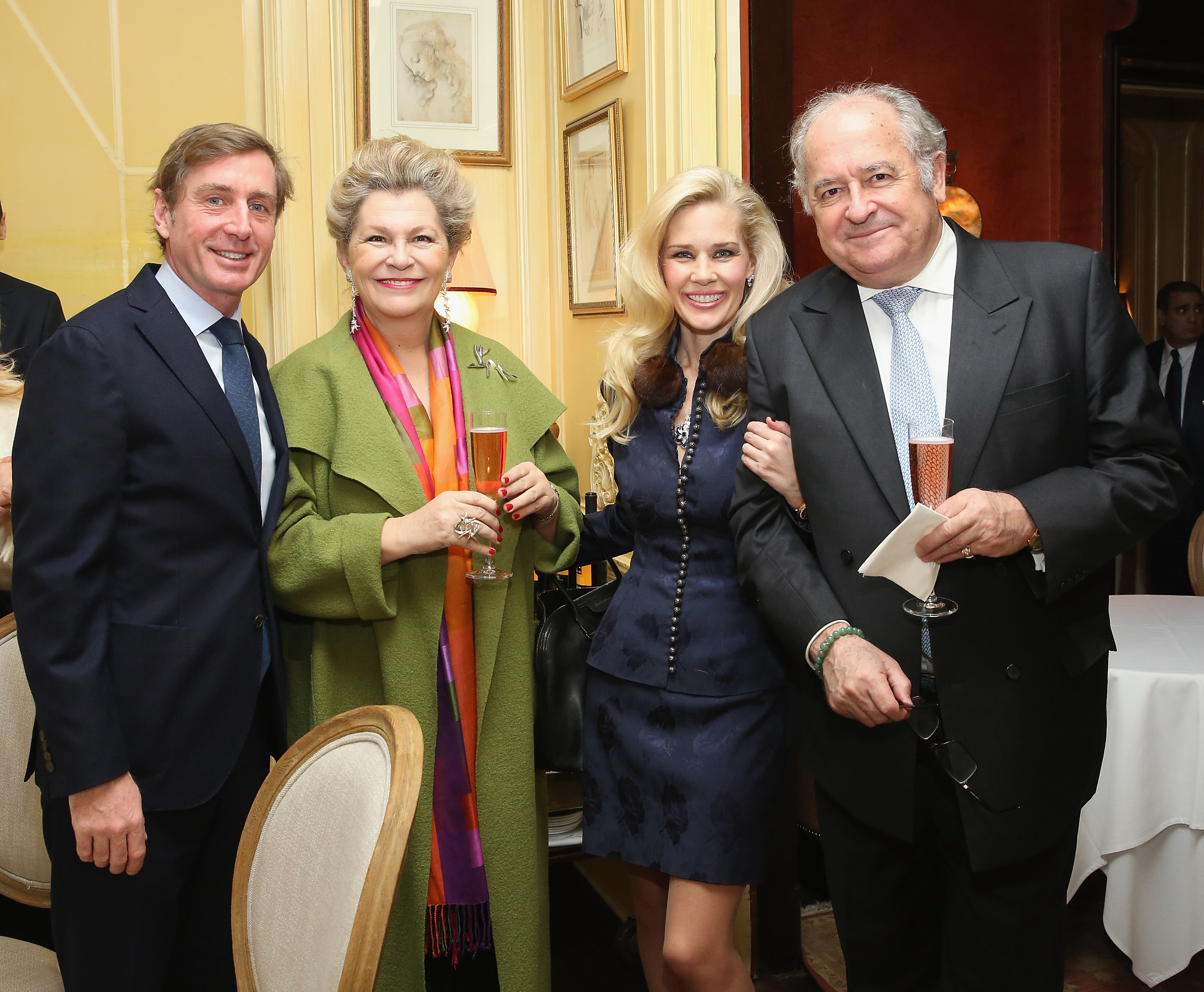 NEW YORK, NY - JANUARY 08: Prince Charles Henri Lobkowicz, Dr. Tamas Lorinczy, New York Socialite Michelle-Marie Heinemann and Ambassador Katalin Annamaria Bogyay attend New York Socialite Michelle-Marie Heinemann Hosts Luncheon For Prince Charles Henri Lobkowicz At Plaza Athenee on January 8, 2016 in New York City. (Photo by Robin Marchant/Getty Images for Old Fashioned Mom Magazine)