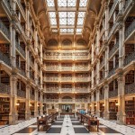 E665TT Baltimore George Peabody Library one of the most beautiful famous libraries in the world.